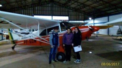 Projeto da EMEF Marcílio Dias leva estudantes a passeio de avião