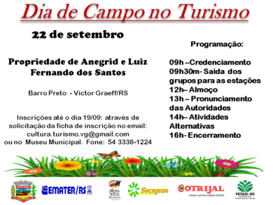 Prefeitura e Emater realizam Dia de Campo voltado ao Turismo