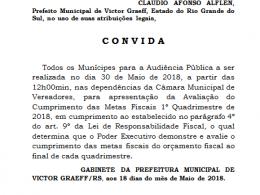 Convite – Audiência Pública – 30 de maio