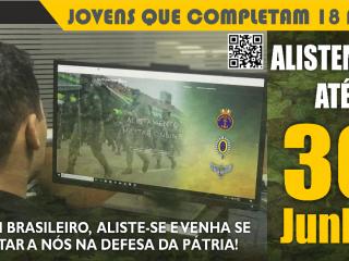 Limite para alistamento militar é no dia 30 de junho