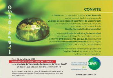 Unidade da CRVR será inaugurada nesta sexta(06) em Victor Graeff!