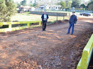 Alflen e Appelt acompanharam obras pelo município