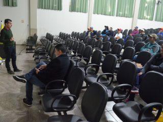 Servidores municipais receberam orientações sobre segurança no trabalho