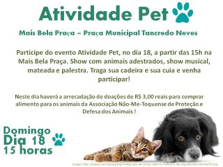 Evento na Mais Bela Praça vai arrecadar doações para a Associação Não-Me-Toquense de Proteção e Defesa dos Animais