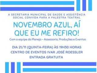 Palestra em alusão ao Novembro Azul será na quinta-feira (21)