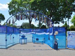 Novembro Azul: Mais Bela Praça recebe decoração especial