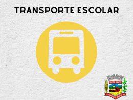 Inscrições para utilizar o transporte escolar devem ser realizadas na Secretaria de Educação