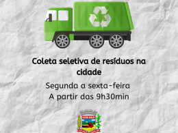 Município terceiriza serviços de coleta e transporte de resíduos