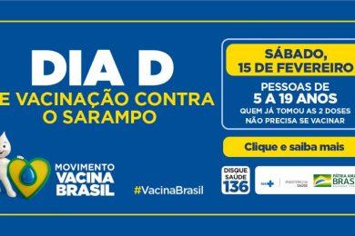 Dia D de Vacinação contra o Sarampo será neste sábado