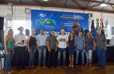 """Comitiva de Victor Graeff participou de """"Mobilização em Defesa dos Pequenos Municípios"""" em Saldanha Marinho"""