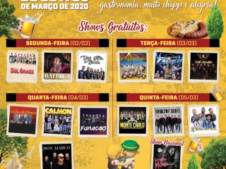 Divulgadas as atrações musicais do 19º Festival Nacional da Cuca com Linguiça
