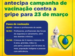 Ministério da Saúde antecipa Campanha de Vacinação Contra Gripe para o dia 23