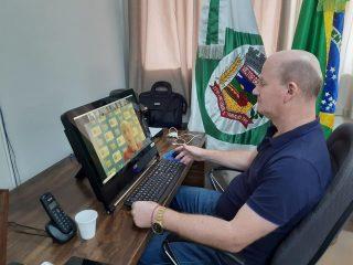 Prefeito participa de reunião do COMAJA via videoconferência