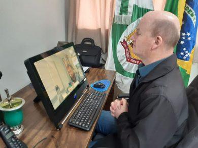 Prefeito Cláudio Alflen participou de videoconferência com líderes de associações de municípios