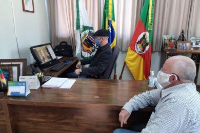 Prefeito Cláudio Alflen participa de reunião sobre as eleições 2020