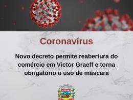 Novo decreto permite reabertura do comércio em Victor Graeff e torna obrigatório o uso de máscara