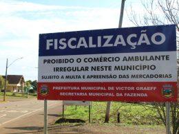 Prefeitura intensifica fiscalização de vendedores ambulantes irregulares no município