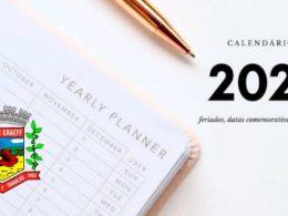 AGENDAMENTO DE DATAS PARA O CALENDÁRIO DE EVENTOS 2021
