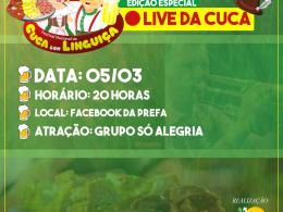 TEMPO DE ADAPTAÇÃO: FESTIVAL DA CUCA COM LINGUIÇA SERÁ ON-LINE