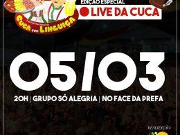 Começam os preparativos para 1° Live da Cuca com Linguiça