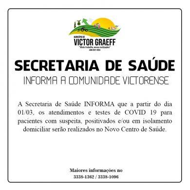 Informativo da Secretaria Municipal de Saúde
