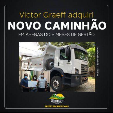 Victor Graeff adquire caminhão novo em apenas dois meses de nova gestão