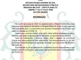 COVID: Descumprimento de orientações poderá gerar multa entre R$ 500,00 e R$ 5.000,00