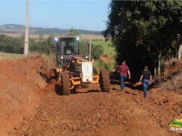 Equipe de obras segue trabalhando em Posse Cerrito