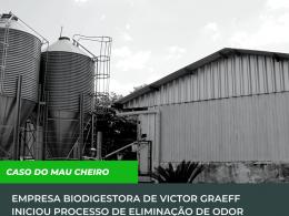 Empresa Biodigestora de Victor Graeff iniciou processo de eliminação de odor