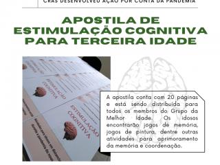 CRAS desenvolve apostila de estimulação cognitiva para Melhor Idade