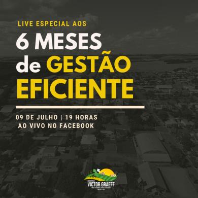 Administração Municipal realizará live de prestação de contas a comunidade