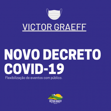 Novo decreto Covid-19 em Victor Graeff flexibiliza eventos
